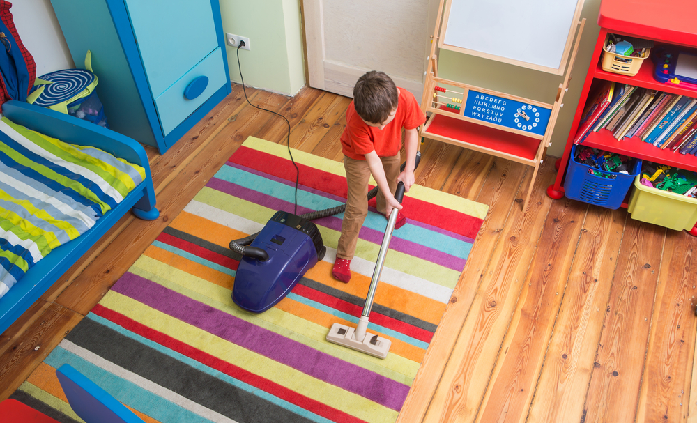 Kid Cleaning Rug
